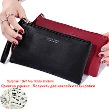 Женский кошелек, длинный модный клатч на молнии, сумочка, новинка, сумка для мобильного телефона, держатель для карт, кошелек для монет, тонкий кошелек