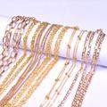 Позолоченная цепочка длиной 1 метр, Геометрическая цепочка «сделай сам» для изготовления ювелирных изделий, ожерелья, браслета, держатель д...
