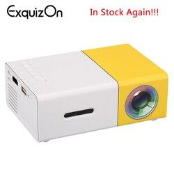 Новейший мини YG300 ЖК-проектор 400-600 люмен 320x240 пикселей 3,5 мм аудио/HDMI/USB/SD входы медиа-проектор/проектор