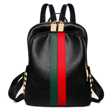 Luxury Famous Brand Designer Women PU Leather Backpack Female Casual Shoulders Bag Teenager School Bag Fashion Women's Bags nucelle brand design women s fashion color blocking cover casual cow leather girls ladies backpack shoulders travel school bag
