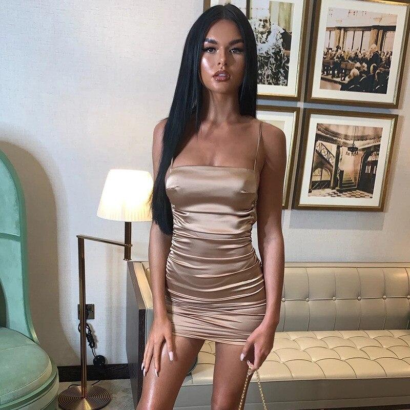 mini satin dress09