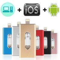 USB OTG Flash Drive 8G16G32G64G128G para iPhone X/8/7/7Plus/6/6s/5S iPad iOS Mini Pendrive memoria logotipo personalizado USB 3,0
