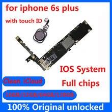 Carte mère 16 go/32 go/64 go/128 go originale débloquée pour iphone 6s plus 6sp, avec/sans Touch ID, circuit imprimé principal