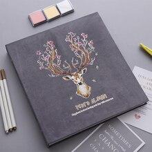 12 inch DIY Photo album creative Suede cover black sheets photo thermal transfer printing romantic romance love