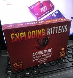 Gatinho edição original caixa vermelha caixa preta nsfw edição família festa estratégia explodir diversão para jogos de tabuleiro cartões adulto criança brinquedo