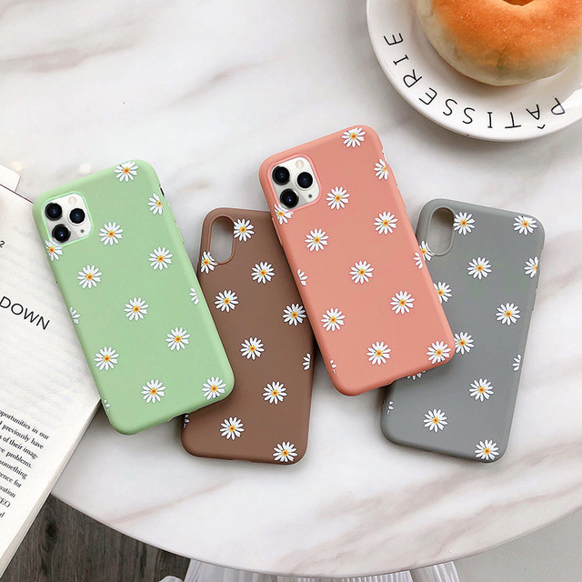 moskado Art Floral Daisy Phone Case For iPhone 11 X XR XS Max 6S 7 8 7Plus 5 Fashion Daisy Flower Case Soft TPU Back Cases Cover 1