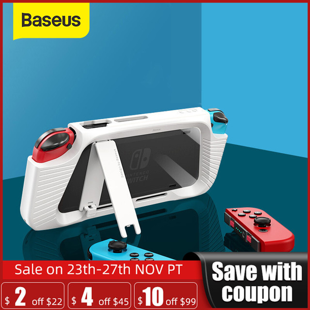 Custodia Baseus per Nintendo Nintendo Switch NS Cover posteriore Shell Coque custodia antiurto compatibile Con Console e controllo Joy Con