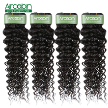 Aircabin Hair Deep Wave Bundles Brazilian Hair Weave Bundle Natural Color Human Hair 1/3/4 Bundles Remy Hair Extensions стоимость