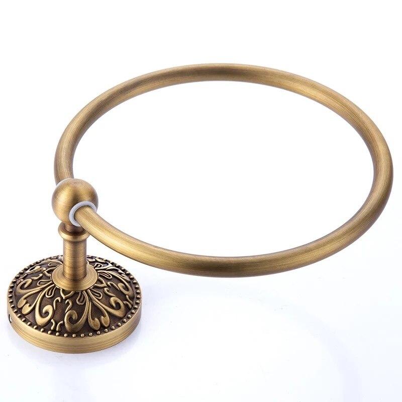 арка ванная полотенце кольца антик золото медь отделка лицо полотенце 2F рука полотенце вешалки настенный навесной