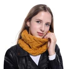 Women Scarves Winter Knitted Lic Scarf Warm Infinity Snood Ladies Ring Loop Scarf Fashion Circle Neckchief infinity scarf new fashion women scarves plaid печать кольцо шарфы кольцо украдено 2018 jeouly