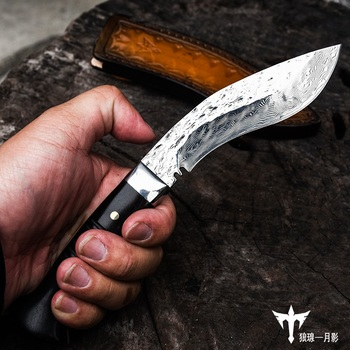 WIND VG10 BLADE High sharp outdoor tactical straight knife, Hand forged outdoor knife, wild survival EDC camping knife