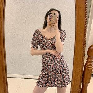 2020 новое французское платье с цветочным рисунком, шифоновое платье высокого качества, детское летнее платье
