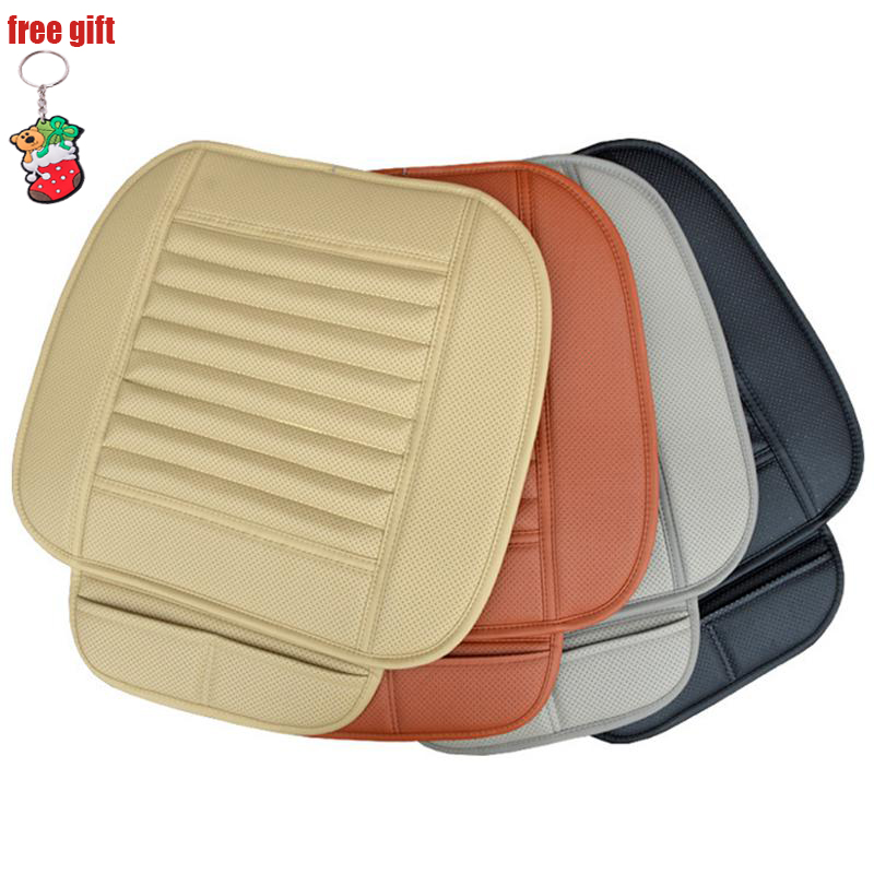 Car Seat Cover Breathable PU Leather Bamboo Charcoal Car Interior Seat Cover Cushion Pad for Auto Supply Office Chair Universal