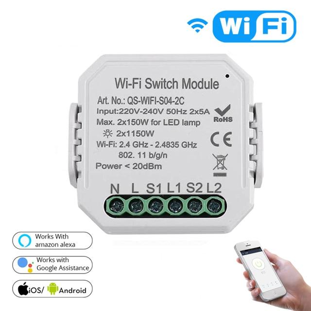 Tuya vie intelligente app WiFi commutateur de lumière intelligente Module de disjoncteur bricolage APP télécommande fonctionne avec Amazon Echo Alexa Google home