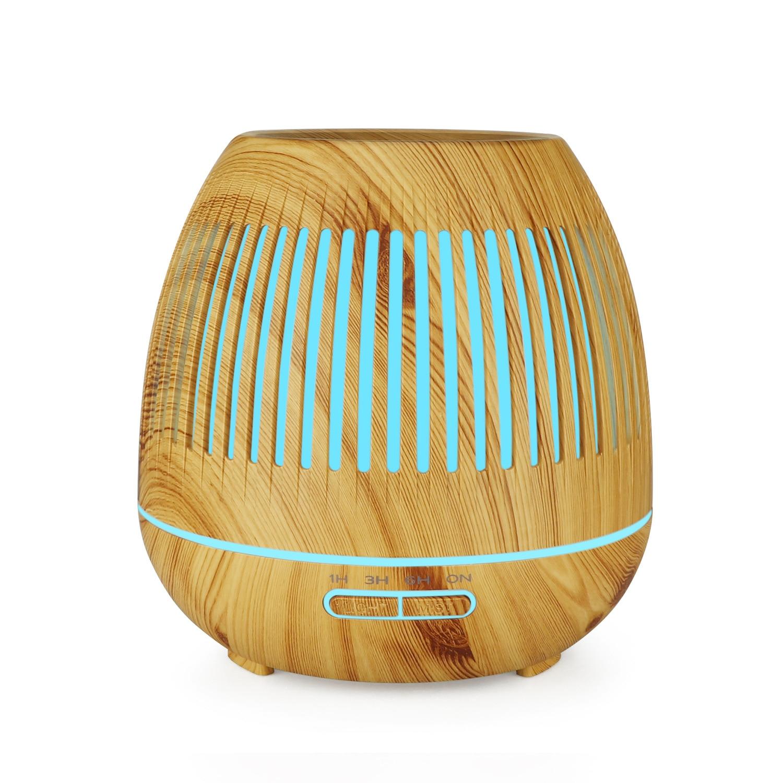 Увлажнитель, арома-диффузор полый увлажнитель воздуха с ночной подсветкой древесины зерна Мини увлажнитель воздухоочиститель с