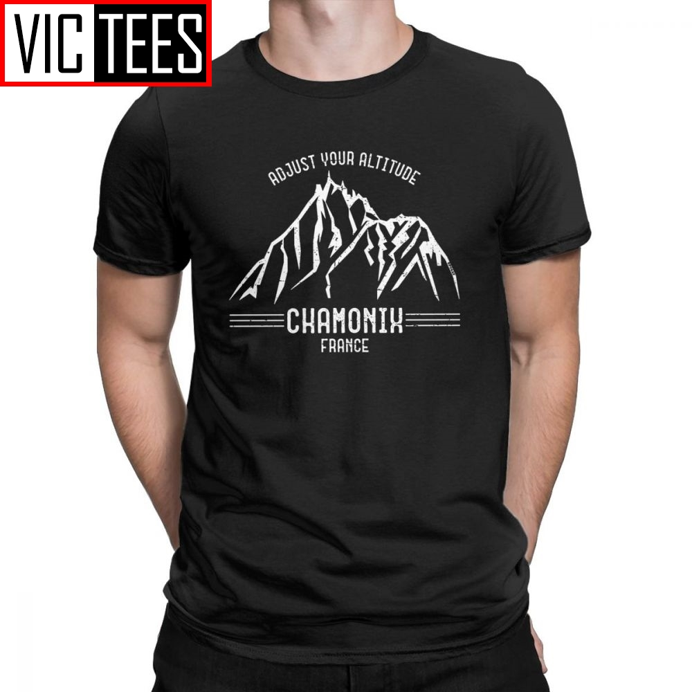Men T-Shirts Chamonix 100 Premium Cotton Tees Mountains Are Calling Back Country Outdoor Climb Hike T Shirt Clothing 3D Printed