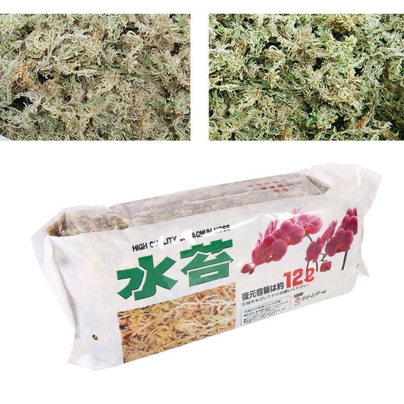 1 Pcs 6L Wholesale Flowers Potted Flowers Multi-meat Cultivation Matrix Water Moss Dry Water Moss Butterfly Orchid Nutrient Soil