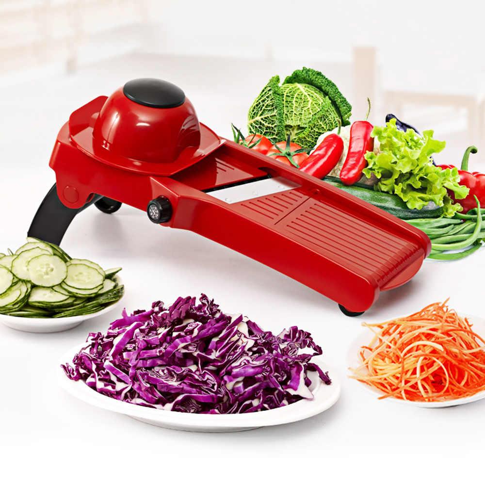 マンドリンスライサー野菜カッターステンレス鋼ブレジャガイモの皮むき器ニンジンおろし金ダイアクセサリーガジェット