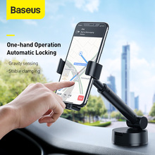 Baseus Gravity Car Mount Holder with Suction Base Adjustable Universal Car Phone Stand for 4.7 6.5inch Mobile Phone for iPhone