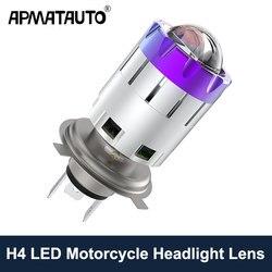 1 sztuk H4 HS1 reflektor LED obiektyw żarówka lampa do motocykla lampa 6000k dla Yamaha Grizzly 550 700 FI Auto 2011 YFM550 YFM700 4x4 2008 -