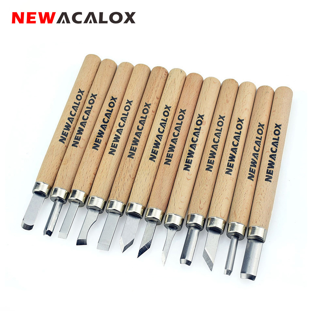 NEWACALOX 12pcs Woodcut Knife Scorper Wood Carving Tool Woodworking Hobby Arts Craft Nicking Cutter Graver Scalpel Multi DIY Pen(China)