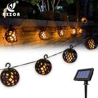 Outdoor Solar Flamme Laterne String Wasserdicht Garten Wand Lampe Geeignet für Innen und Hof Tor Party Urlaub Dekoration
