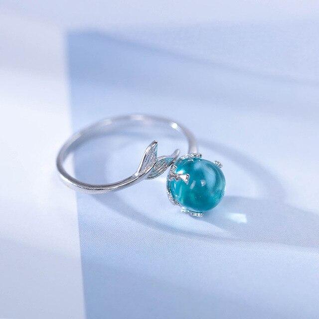 Handmade Mermaid 925 Sterling Silver Ring 3
