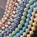 Handmade Nepalese Buddhist Tibetan Metal & Clay Loose Craft Beads for Necklace Jewelry Making DIY Findings