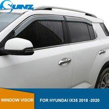 サイドウィンドウ現代Ix35 2018 2019 2020用高透明ワイパーカーレインシールド車の天気シールド太陽雨偏向器ガードsunz