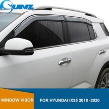 Side Window Deflectors For Hyundai Ix35 2018 2019 2020 Highly Transparent Weather Shield Sun Rain Deflector Guards SUNZ