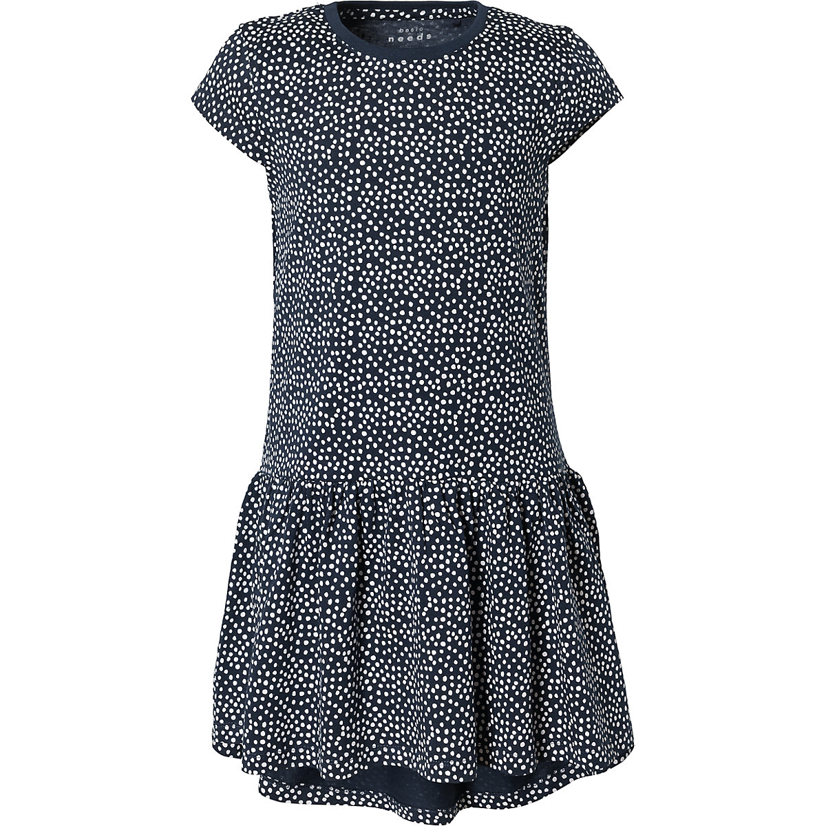NAME IT Dresses 10626582 Dress girl children checkered pattern collar fitted silhouette sequins Cotton Casual Blue Short Sleeve