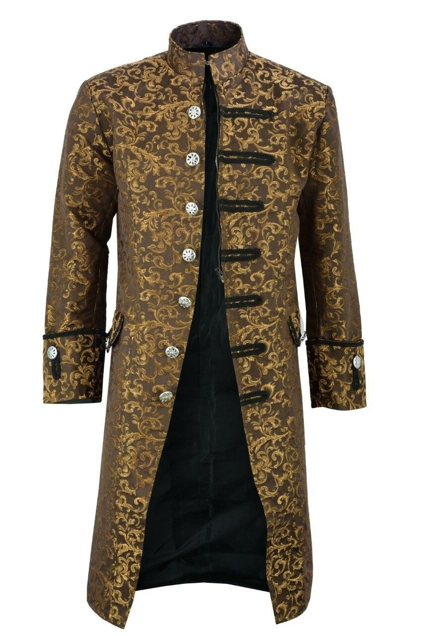 2019 Wish Hot Selling New Style Steam Punk Men's Coat Fashion Casual   Trench   Coat Jacket a Generation of Fat