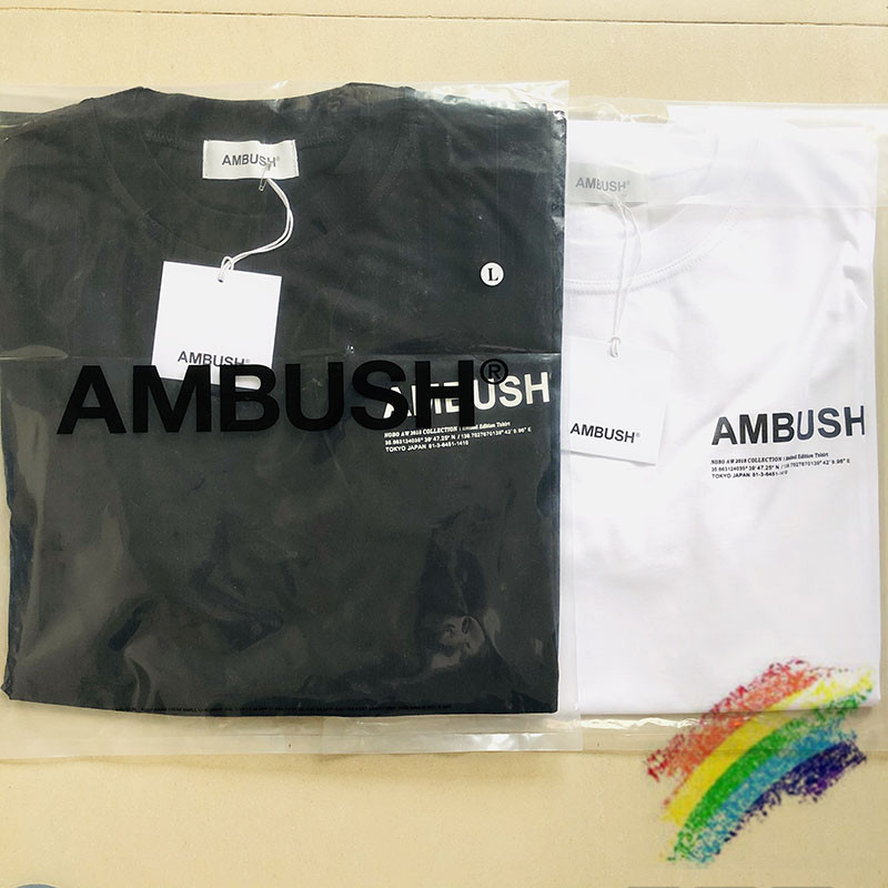 2020SS Ambush T-Shirt Women Men 1:1 High Quality Summer Style Hip Hop Ambush Cotton T Shirt Short Sleeve Top Tees