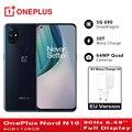 EU Version OnePlus Nord N10 5G Telefones Celulares 6GB 128GB Snapdragon 690 Smartphone 90Hz Display 64MP quad Cams NFC