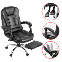Office Chair Racing Gaming Leather High Back Recliner W/ Footrest Executive