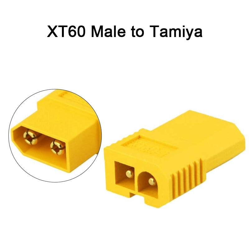 """Amass адаптер XT60 к XT90 EC5 EC3 TRX T Deans XT30U гнездовые штекерные разъемы 4,0 мм разъем типа """"банан"""" RC Lipo части управления батареей DIY - Цвет: XT60 Male to Tamiya"""