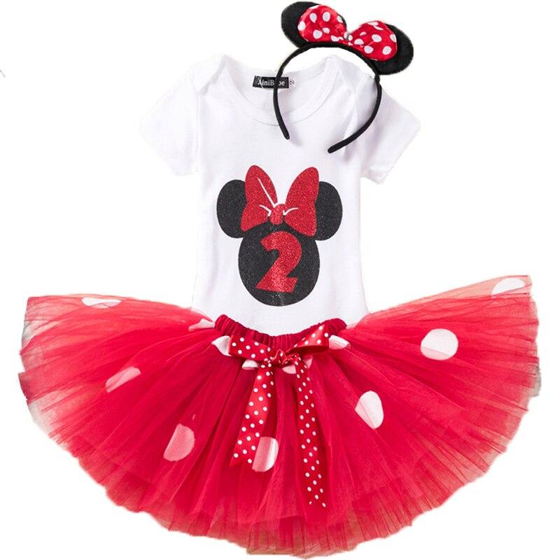 Tollder Mädchen Minnie Dot Kleidung Set Kinder Kinder 1 2 Geburtstag Strampler T Hemd Tutu Kleid Halloween Weihnachten Kleidung Kostüm