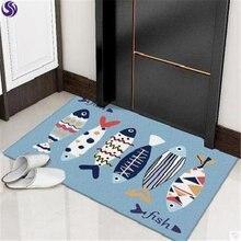 10 шт мультяшный коврик в виде рыбы Детский ковер для спальни