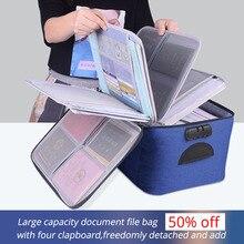 Maletín portátil para documentos para hombre y mujer, bolsa de viaje, organizador de documentos de almacenamiento de papel
