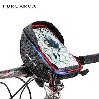 Bolsa para teléfono móvil bicicleta ciclismo pantalla táctil Mini bolso tubo manillar Mini BOLSA móvil 6 pulgadas impermeable teléfono titular X252