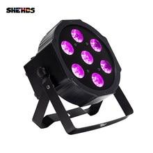 Shehds led 7x18w rgbwa + luz de par uv com dmx512 6in1 fase efeito de lavagem dj disco 54x3w 12x3w mini spotlighting 10w