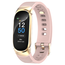 Female Smart Fitness Bracelet Color Screen Smart Band Blood Pressure Heart Rate Monitor Watch for ios android Wearable Devices 2018 new s9 nfc mtk2502c smartwatch heart rate monitor bluetooth 4 0 smart watch bracelet wearable devices for ios android