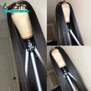 Бесклеевая кружевная фронтальная человеческие волосы парики прямые для черных женщин 130 Плотность не Реми 13X4 бразильские кружевные фронта...