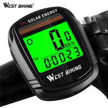 WEST BIKING Wireless Bike Computer Solar Power Waterproof Cycling Odometer Stopwatch Road MTB Bicycle Speedometer