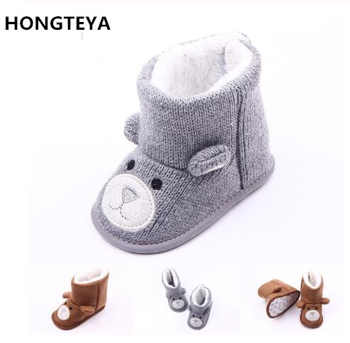 Baby Boots Bear Weave Toddler Boots  Flat Toddler Fur Boots  Unisex  Infant Boots Toddler Shoes For 0-18M Baby Boy Winter Shoes