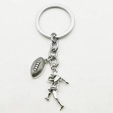 Rugby equipe chaveiro jérsei bola calças charme chaveiro nunca desistir criativo classmate graduação presente jóias artesanato
