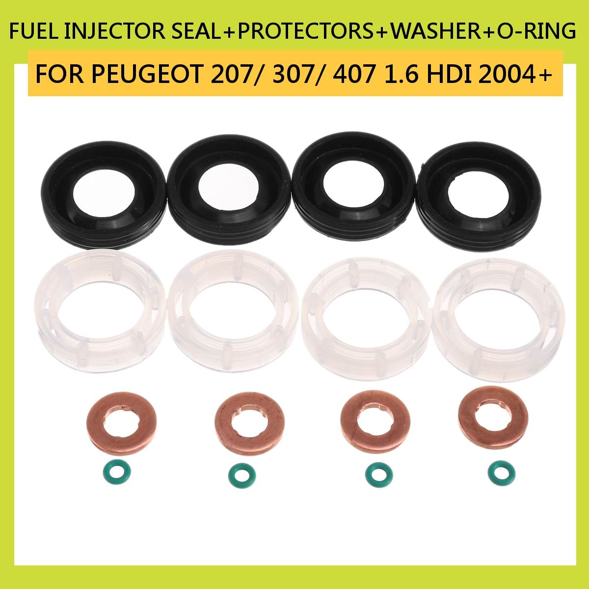 Seals Pack of 4 Peugeot Expert 2.0 HDI Bosch Diesel Injector Washers