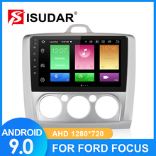 ISUDARรถวิทยุสำหรับFord/Focus 2 Mk 2 2004 2008 2009 2011 2 Din Android 9 autoradioมัลติมีเดียGPS DVRกล้องRAM 2GB ROM 32GB