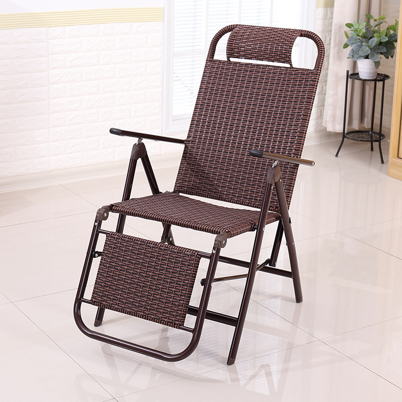 Rattan Summer Cool Chair Recliner Folding Lunch Break Rattan Chair Nap Balcony Home Leisure Chair Elderly Chair Back Lazy People