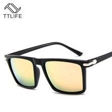 TTLIFE Retro Square Polarized Sunglasses Men Lens Vintage Eyewear Accessories Sun Glasses For Man Shades Male